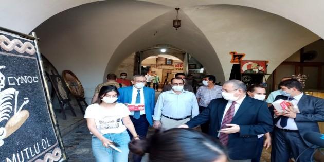 Hatay Vali Vekili Aydın Tetikoğlu'ndan masket denetimi
