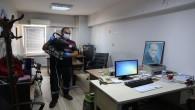 Hatay Büyükşehir Belediyesi Kamu kurum ve kuruluşları dezenfekte ediyor