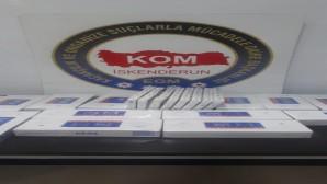 İskenderunda 180 paket kaçak sigara yakalandı