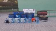 Arsuz ilçesinde 410 litre boğma rakı ele geçirildi