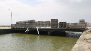 Samandağ'daki köprü inşatı tamamlandı