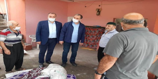 AK Parti Hatay İl Başkanı Mehmet Yeloğlu yangın bölgesinde incelemelerde bulundu