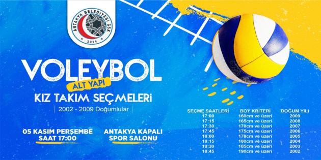 Antakya Belediyesi Kadın Voleybol  Seçmeleri 5 Kasım'da