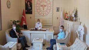 Atakaş Hatayspor Başkan Vekili Aydın Toksöz'den Sağlık Müdürü Hambolat'a ziyaret