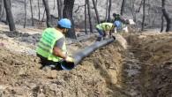 HAT SU'dan Belen'deki Yangın bölgesine yeni alt yapı