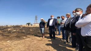 Antakya Belediye Başkanı İzzettin Yılmaz yangın bölgesinde
