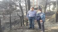 CHP Milletvekilleri Güzelmansur ve Şahin Yangın yerinde: Sabotaj iddiası olasılıklar arasında