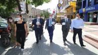 Atatürk Caddesinde Covid- 19 Denetimi: Sağlık için, hepimiz için tedbire devam