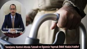 Hatay İl Sağlık Müdürü Dr. Mustafa Hambolat, 29 Ekim Dünya inme gününde mesaj yayınladı