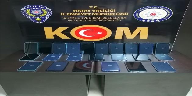 Gümrük kaçağı 23 adet cep telefonu yakalandı