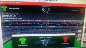 Atakaş Hatayspor Alanya deplasmanından çok farklı bir skorla döndü: 6-0