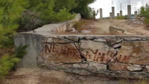Hatay'daki yangın bölgesi yakınında 'Ne varsa yansın' yazısı Hataylıları öfkelendirdi!