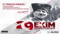 Başkan Eryılmaz: 29 Ekim Cumhuriyet Bayramımız kutlu olsun