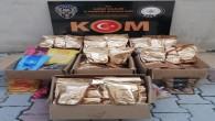Gümrük kaçağı 199 kilo nargile tütünü ele geçirildi