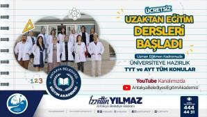 Antakya Belediyesi'nde Üniversiteye hazırlık TYT-AYT Kursları uzaktan eğitimle başladı