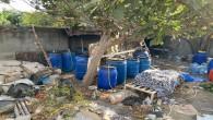 İskenderun'da 3230 litre boğma rakı yakalandı