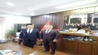 HESOB Başkanı Teksöz'e SGK Müdürü Hamit Bal ve Ticaret Müdürü Halit İmrek'ten ziyaret