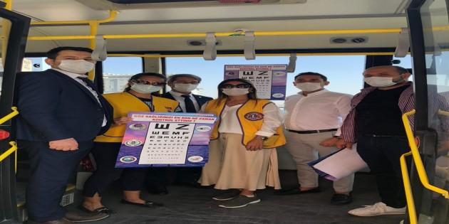 Lions Kulübü ve Hatay Büyükşehir Belediyesi Göz sağlığında farkındalık yarattı