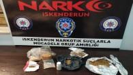 İskenderun'da 413 gram uyuşturucu madde yakalandı