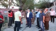 Vali Rahmi Doğan Azganlık bölgesindeki yangın alanında incelemelerde bulundu