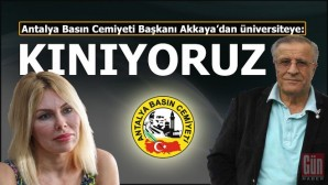 Antalya Basın Cemiyeti'nden Akdeniz Üniversitesi'nin Gazeteciye sansürüne kınama