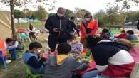 Milletvekili Sertel, Çadırkent'te çocuklar için kurulan oyun alanını ziyaret etti