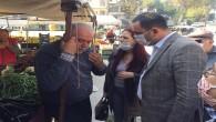 Antakya CHP yöneticileri pazarda Halkın nabzını yokladı