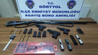 Dörtyol ilçesinde kuru sıkı tabancaları ateşli silaha dönüştüren atölye ortaya çıkarıldı