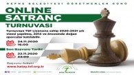Defne Belediyesi'nden online Satranç turnuvası