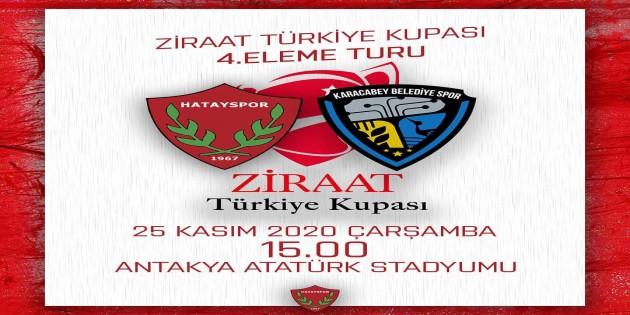 Atakaş Hatayspor ziraat kupası 4. tur eleme maçında Bursa Karacaybey Belediyesini konuk edecek