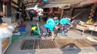 Antakya Belediyesi Çarşı bölgesindeki  mazgallarda bakım ve temizlik çalışması gerçekleştirdi
