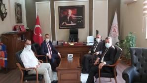 Milletvekili Şanverdi ile Başkanlar Hacıoğlu ile Sarı'dan Sağlık Müdürü Hambolat'a ziyaret
