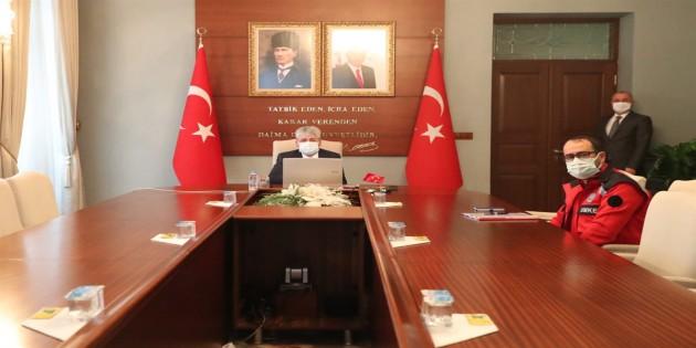 Vali Doğan Covid-19 Tedbirlerine Yönelik Toplantı Yaptı