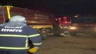 Hatay Büyükşehir belediyesi İtfaiyesi İskenderun'daki yangını kısa sürede kontrol altına aldı