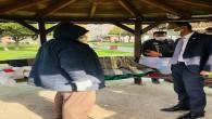 Başkan Güzel Sevgi Parkında kalan evsiz vatandaşı Otele yerleştirdi