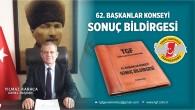 Türkiye Gazeteciler Federasyonu  62. Başkanlar Konseyi Sonuç Bildirgesi:  Basına Destek şart