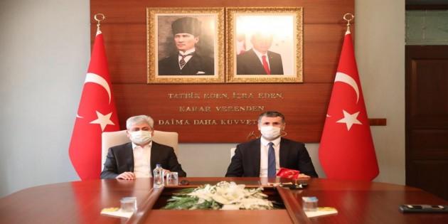 Vali Rahmi Doğan Başsavcı Ahmet Ataman  ile İşbirliği Protokolü İmzaladı