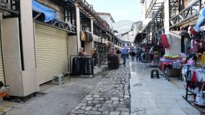Antakya'nın  Tarihi Uzun Çarşı'da Restorasyon iskeleleri kuruldu