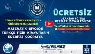Antakya Belediyesi'nin üniversiteye hazırlık kursları Youtube kanalında devam ediyor