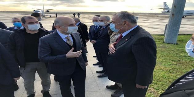 Bakan Karaismailoğlu'na Hatay Havaalanında karşılama