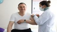 Korona Virüs aşısını yaptıran Başkan Savaş: Sırası gelen herkes aşı olsun