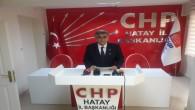 CHP İl Başkanı Parlar, Vefat eden Yayladağı Belediye Başkanı Mustafa Sayın için taziye mesajı yayınladı