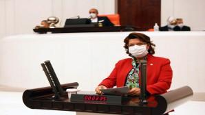 CHP Hatay Milletvekili Suzan Şahin. Esnaf Yardımları Banka hacizlerine gidiyor
