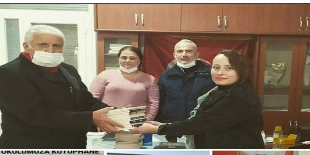 Mehmet Perçemli'den Hacı Bektaş Vali Lisesine kitap bağışı