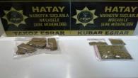 Antakya Narlıca'da 159 gram takoz esrar yakalandı