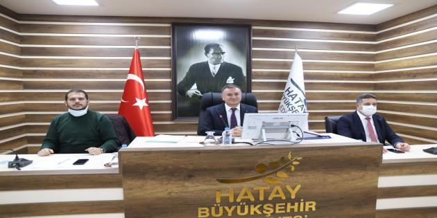 Hatay Büyükşehir Belediyesi Ocak ayı toplantısını gerçekleştirdi