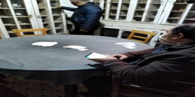 Kıraathanelere Baskın: 5 kişiye 17.345 lira para cezası