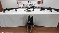 Jandarmadan silah kaçakçılarına operasyon: Toprağa gömülü 1 kaleşinkof ile 2 av tüfeği ele geçirildi