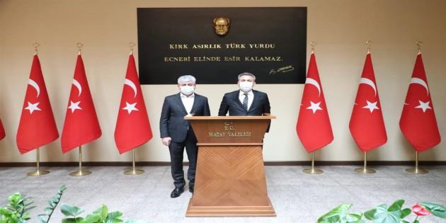 Adana Valisi Süleyman Elban'dan Vali Rahmi Doğan'a Ziyaret