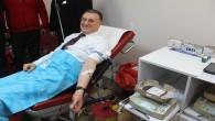 Başkan Savaş Kızılay'a Üçüncü Defa Kan Bağışında Bulundu